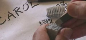 Design and carve a Chinese name chop seal stamp