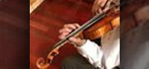 Play an advanced arpeggio exercise on violin