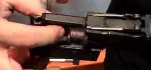 Remove the barrel from the trunnion