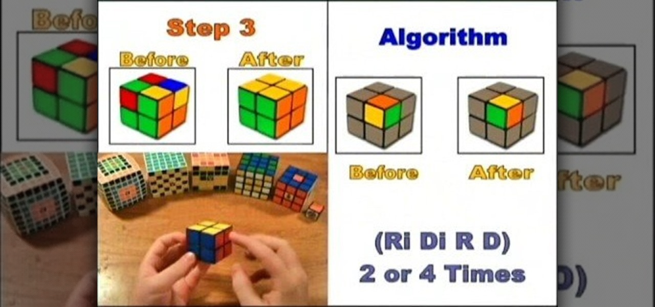 How To Solve The 2x2 Rubiks Cube Mini Puzzle Puzzles Wonderhowto