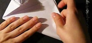 Make an origami envelope from paper