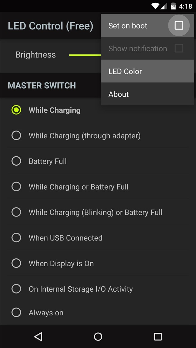 How to Enable the Charging LED on Your Nexus 6