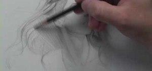 Draw wispy hair