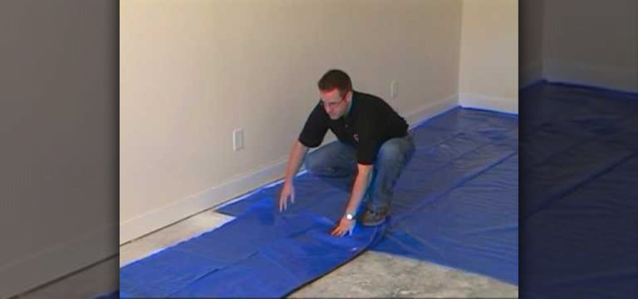 How To Install The Moisture Barrier Over Concrete Suloor Furniture Woodworking Wonderhowto