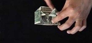 Origami a dollar bill shirt