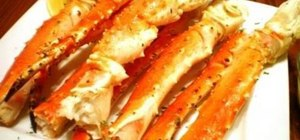 Make baked king crab legs w/ garlic lemon butter sauce