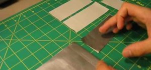 Make a skateboard style wallet from duct tape