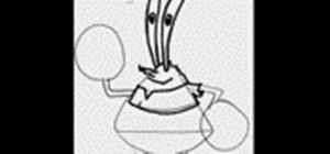 Draw the cartoon character Mr. Krabs from SpongeBob