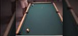 Shoot a two-rail kick shot in pool