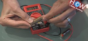 Use a multimeter as a battery tester