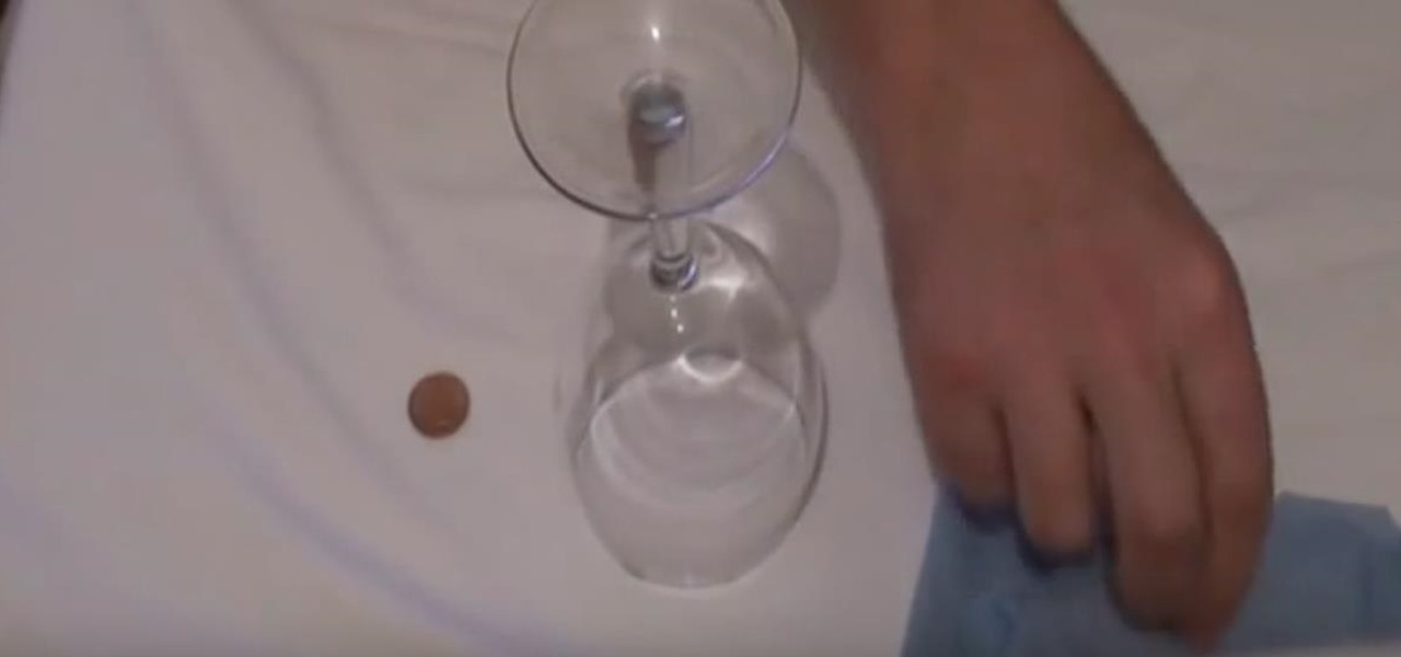 Make a Coin Vanish Through a Glass with Magic