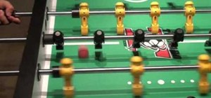 Use brush passing to control the game in foosball