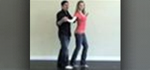 Perform a basic butterfly spin in salsa dancing