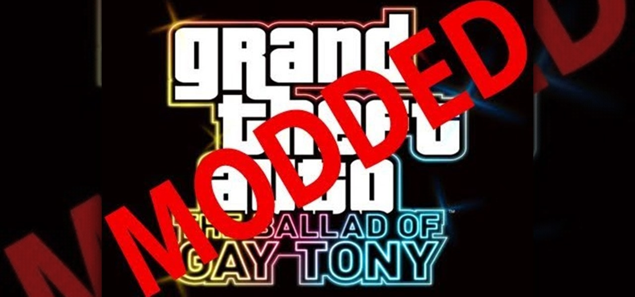 How to Mod GTA: The Ballad Of Gay Tony for a flashed or