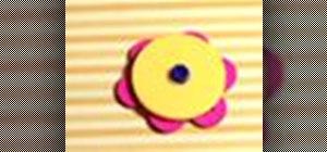 Crafta button brooch