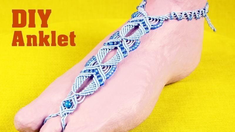 Macrame Anklet - Barefoot Sandal Tutorial