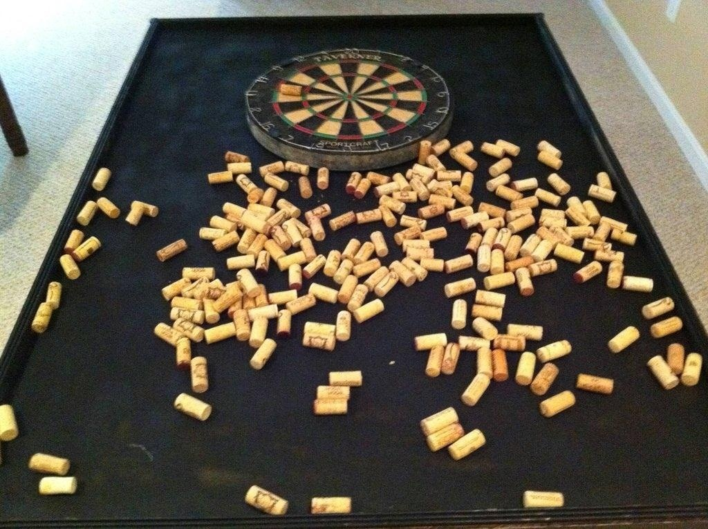 Protect Your Wall From Stray Darts With This Diy Dartboard Cabinet Made Of Wine Corks Macgyverisms Wonderhowto