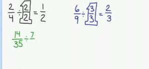 Reduce fractions to their lowest terms