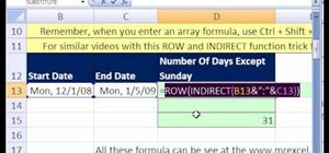 Count days excluding Sundays in Microsoft Excel