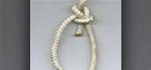 Tie the bowline Boy Scouts knot