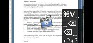Write a cover letter in 30 seconds using a Mac