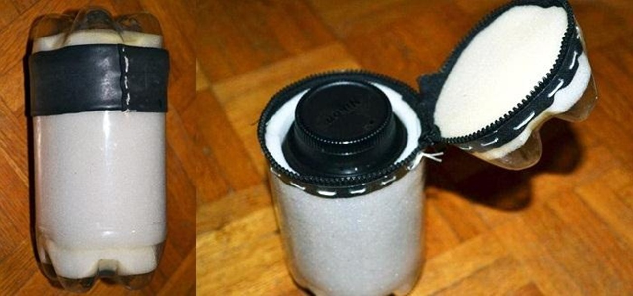 Turn a Plastic Bottle into a Zippered Waterproof Lens Case
