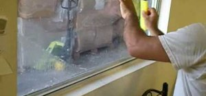 Install hurricane security window film
