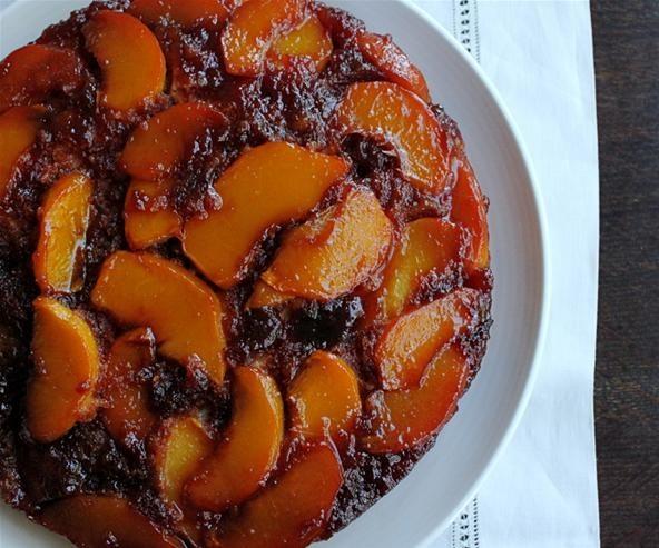 RECIPE: Indian Spiced Upside Down Peach Cake
