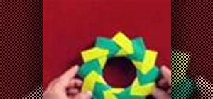 Origami a Christmas holiday wreath
