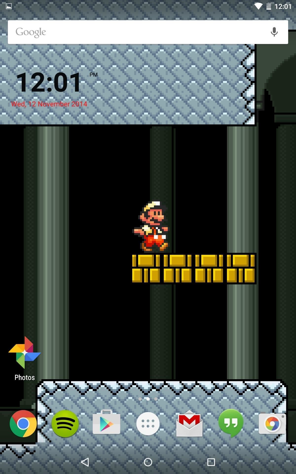 mario live wallpaper classic side scrolling action for