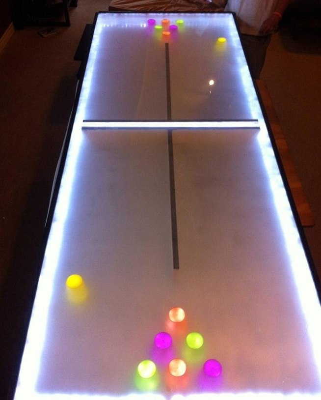 Diy Led Light Table Diy Led Beer Pong Table