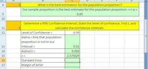 Create confidence intervals for proportions in Excel