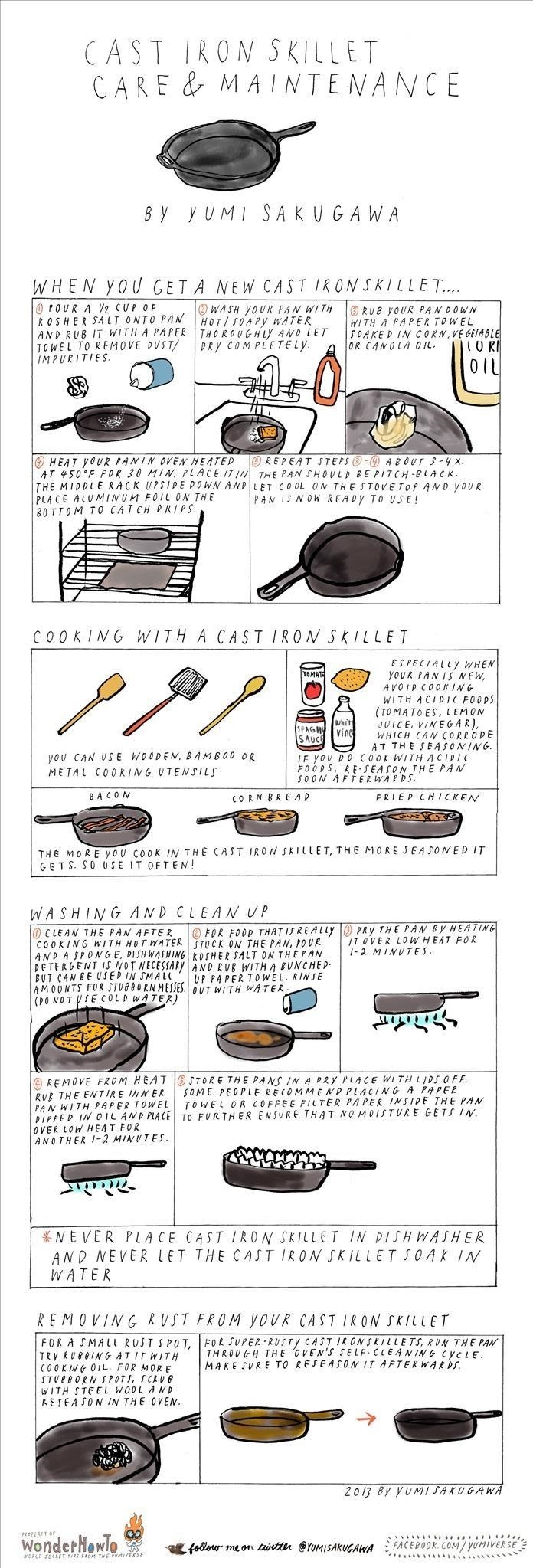 How to Use & Properly Maintain Your Precious Cast Iron Skillet