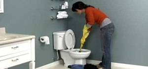 Properly unclog a toilet