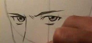 Draw a realistic manga face