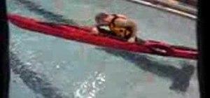 Eskimo roll in a sea kayak