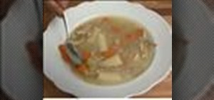 Make chicken soup with leftover chicken