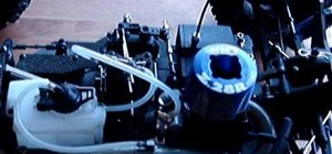 Prime a nitro RC engine