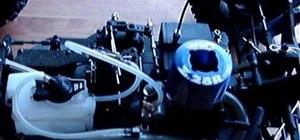 Prime a nitro RC engine