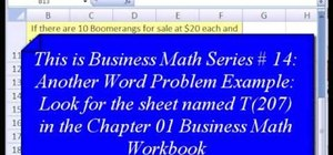 Set up & solve simple word problems in Microsoft Excel