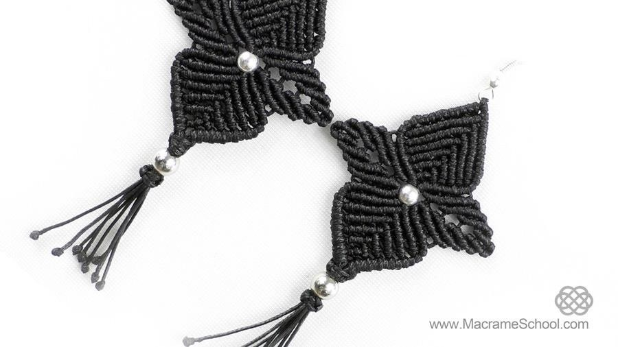 DIY: Macrame Flower Star Earrings