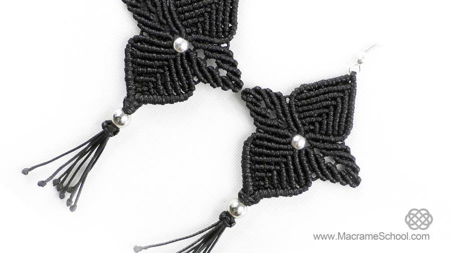 DIY: Macrame Flower Star Earrings