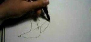 Draw a girl sitting down