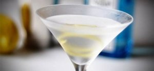 Make a perfect gin martini, stirred, not shaken
