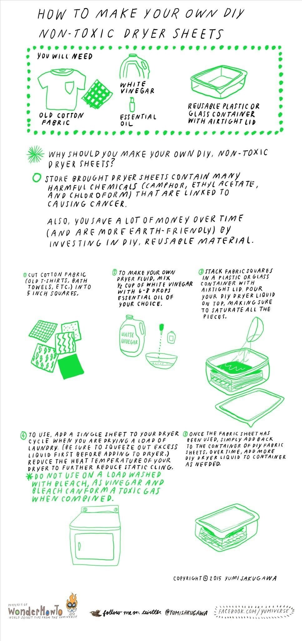 How To Make Your Own Non Toxic Dryer Sheets The Secret Yumiverse Wonderhowto
