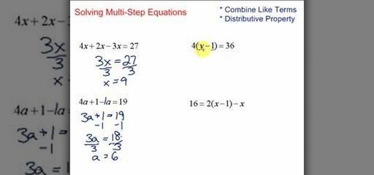 how to solve algebra problem with steps