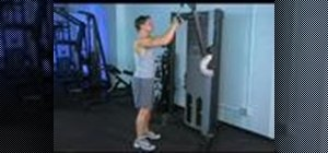 Workout with a cable tricep press downs drop set