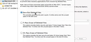 Securely erase files on a Mac