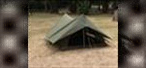 Putup an A-Frame tent