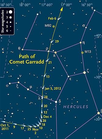 How to Find and Observe the Garradd Comet